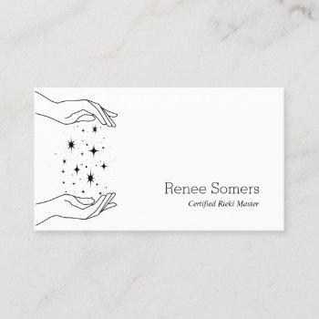 modern reiki practitioner energy medicine business card