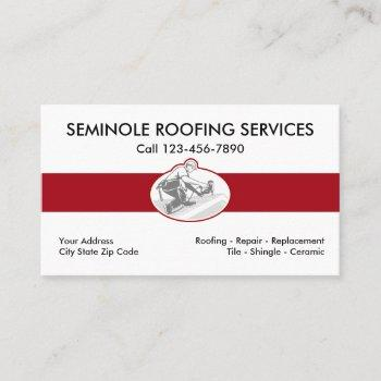 modern roofing service business card