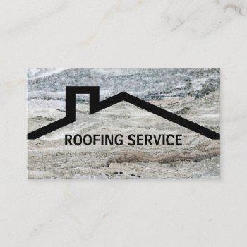 modern roofing services business card