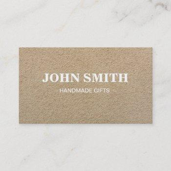 modern rustic brown kraft sand paper business card