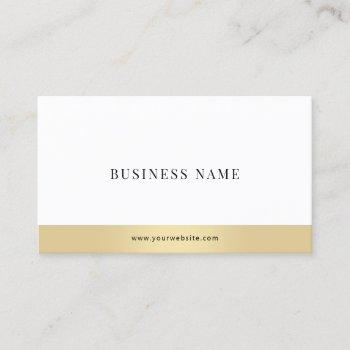 modern simple elegant gold white company plain business card