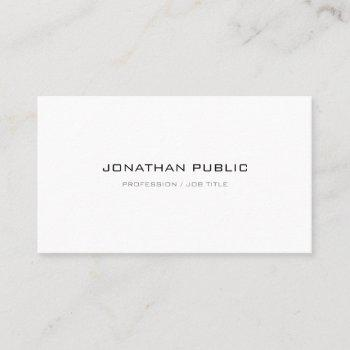 modern simple plain professional elegant trendy business card