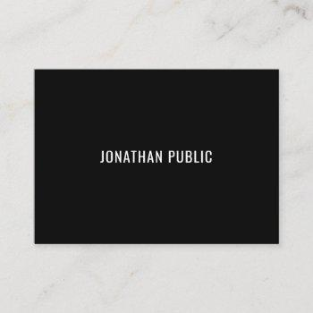 modern sleek black white trendy chic template business card