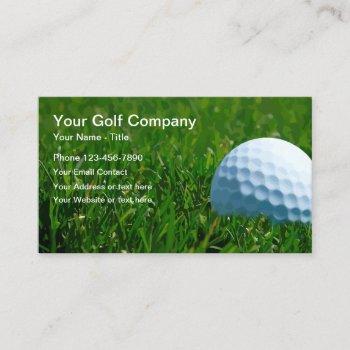 modern sports golf business card