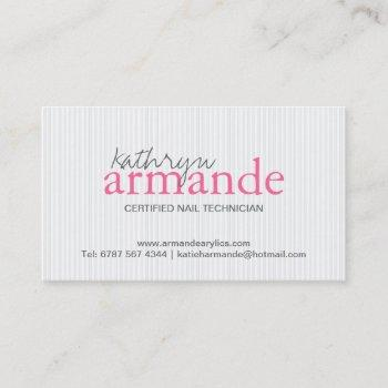 modern stripes business card