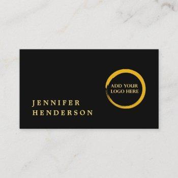 modern stylish black and gold logo professional business card
