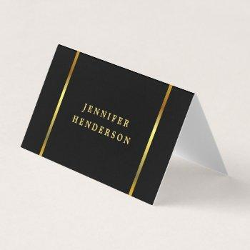 modern stylish black and gold professional business card
