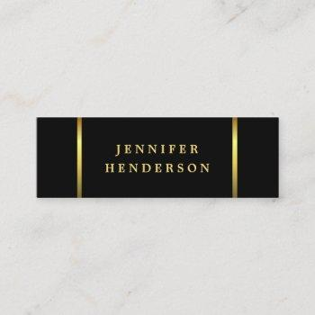modern stylish black and gold professional mini business card