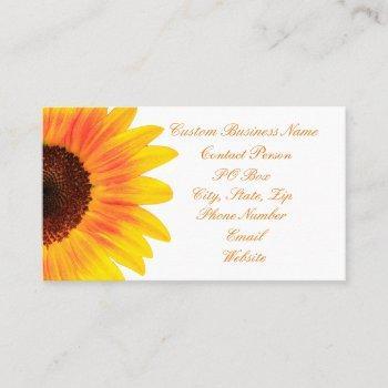 modern stylish sunflower business card