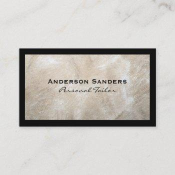 modern texture | classic black borders business card