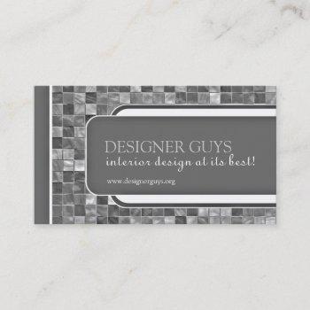 modern tiles business card