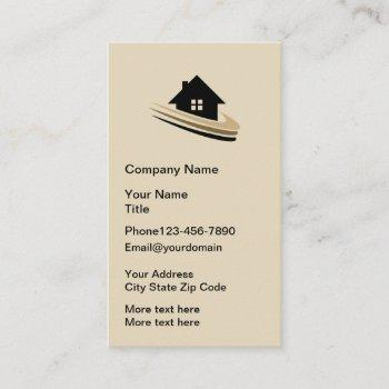 modern vertical real estate business card