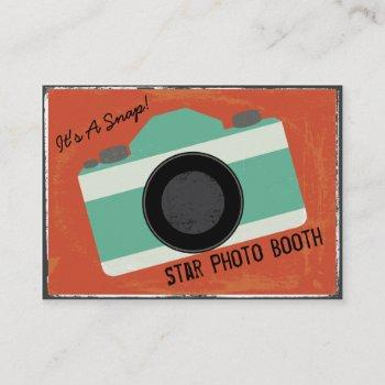 modern vintage camera photo booth photography business card