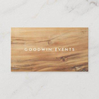 modern wood | business cards