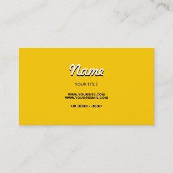 modern yellow business card
