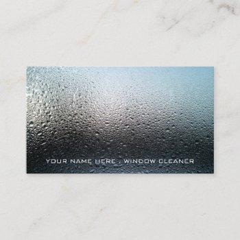 moist window, window cleaners, cleaning service business card