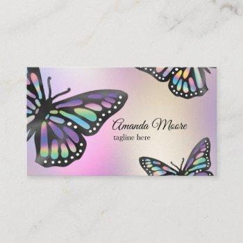 monarch butterfly event planner life coach business card