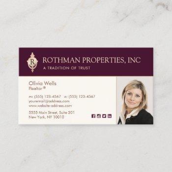 monogram door knocker  real estate  photo  busines business card