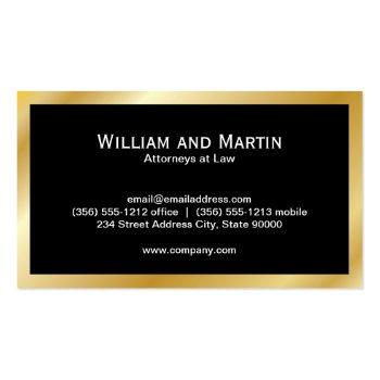 Small Monogram   Executive Gold Business Card Back View