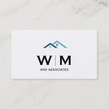 monogram | executive | realtor firm business card