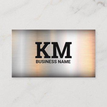 monogram | metal industrial steel business card
