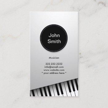 monogram modern pianist musician music business card