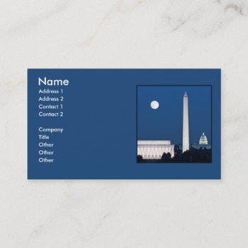 moon over washington dc business card