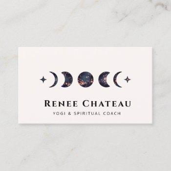 moon phases energy healer business card