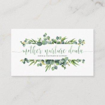mother nurture doula business card
