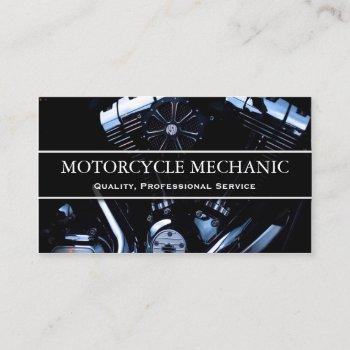 motorcycle engine photo - mechanic business card