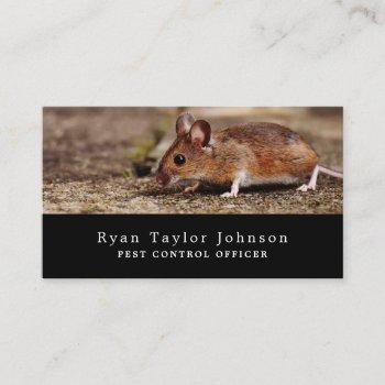 mouse, pest control business card