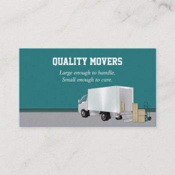 moving company, business card