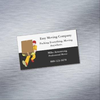 moving company mover box business card magnet
