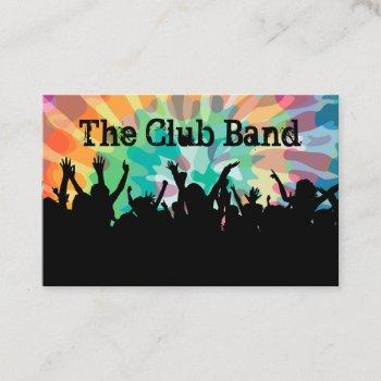music band cool crowd club design business card