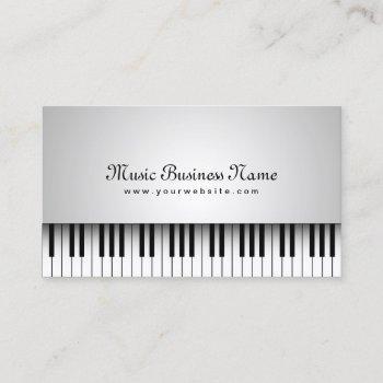 music beautiful white grand piano business card