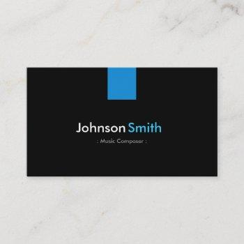 music composer modern aqua blue business card