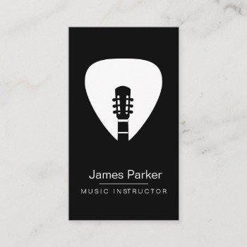 music instructor guitar logo minimalist musician business card