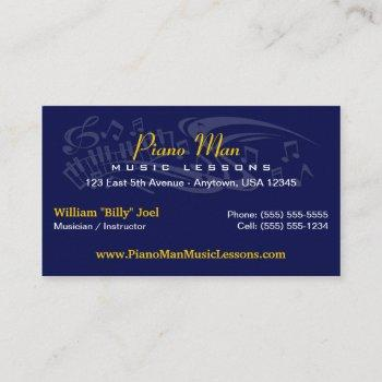 music / musician business card