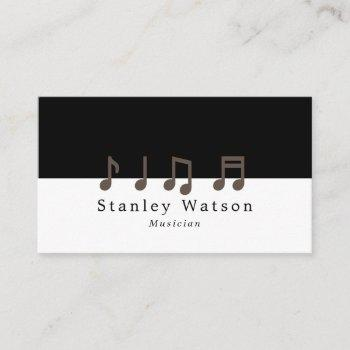 music notes, musician, music industry business card