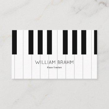 music piano teacher/ pianist professional business card