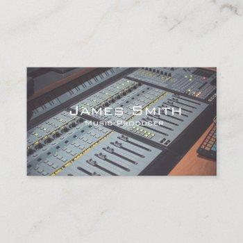 music producer business card