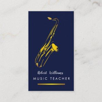 music saxophone instrument musician gold art business card