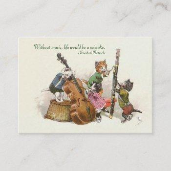 music teacher, musician. music store - two sided business card