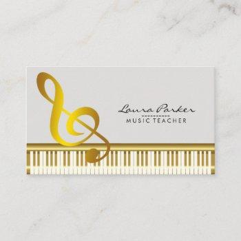 music teacher piano keyboard musician pianist business card