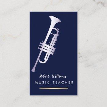 music trumpet instrument bass band  musician business card