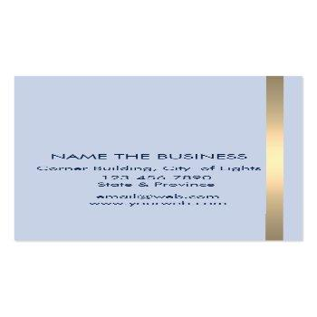 Small Music Trumpet Instrument Bass Band  Musician Gold Business Card Back View