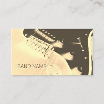 musical artist guitar artistic cover business card