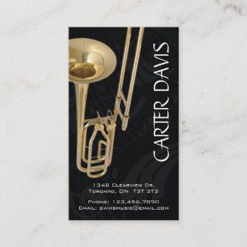 musical instrument - trombone business card