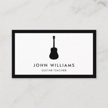 musician acoustic guitar minimalist modern business card