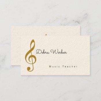 musician business card with treble music note